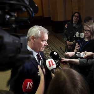 Antti Rinne i Ständerhuset i Helsingfors den 22 maj 2019.