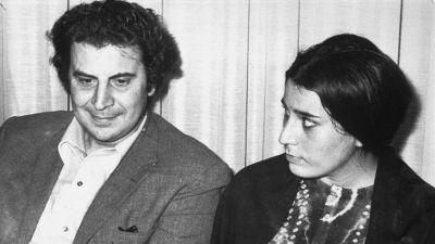 Mikis Theodorakis med hans fru Myrto Altinoglou.