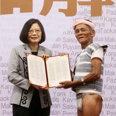 President Tsai Ing-wen vill bilda en kommission som granskar förtrycket av ursprungsfolken på Taiwan