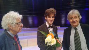 Loris Tjeknavorian, Emmanuel Tjeknavorian and judge Pierre Amoyal