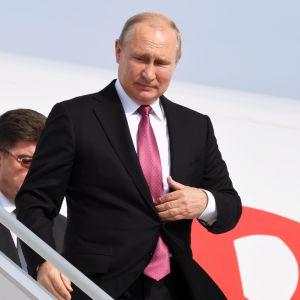Vladimir Putin anländer till Helsingfors den 21.8.2019.