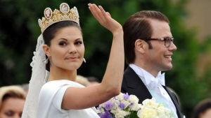 Kronprinsessan Victoria och prins Daniel.