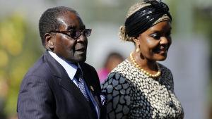 robert och grace mugabe, zimbabwe