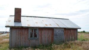Fiskestuga på Västra Norrskär i Kvarkens skärgård, byggd uppskattningsvis 1890-1920.