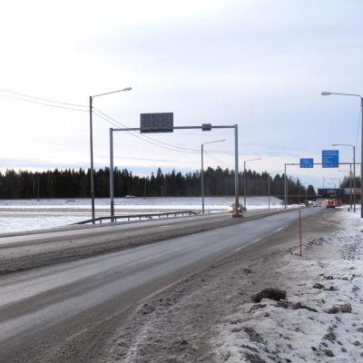 Riksväg 8 vid Edsevö i Pedersöre