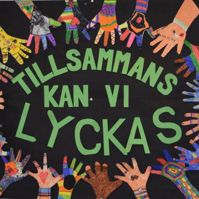 Konstverk i Kyrkfjärdens skola i Ingå