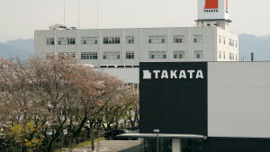 Takatas fabrik i Aisho i mellersta Japan i april 2016.