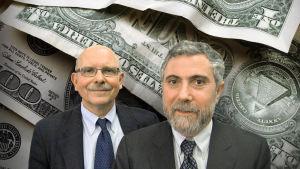Toimittaja Timo-Erkki Heino ja taloustieteen nobelisti Paul Krugman (2009)