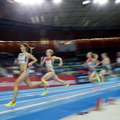 Sara Moreira löper för seger vid EM 2013 i Göteborg.