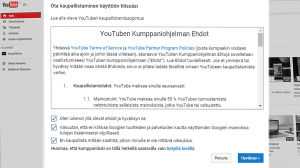 Youtuben kumppaniohjelman ehdot