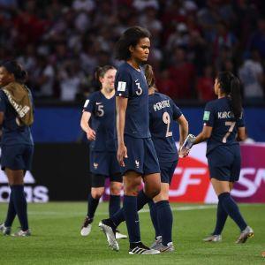 Besvikna franska spelare.