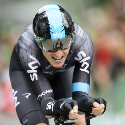 Geraint Thomas tidigare under touren.
