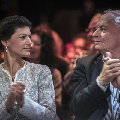 Sahra Wagenknecht och Oskar Lafontaine.