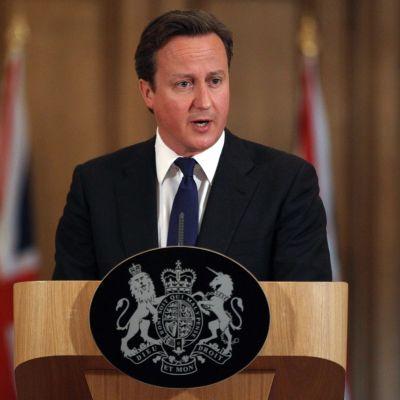 Premiärminister David Cameron i London den 8 juli 2011.
