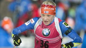 Kaisa Mäkäräinen har ett hyfsat utgångsläge inför jaktstarten.
