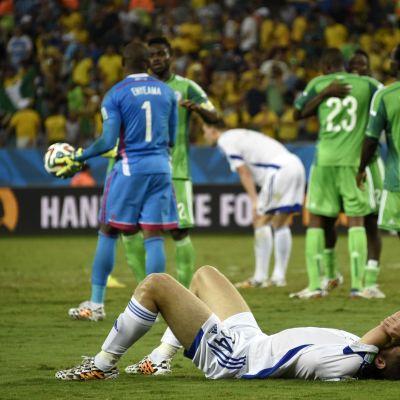Nigeria besegrade Bosnien-Hercegovina med 1-0 efter stor dramatik.
