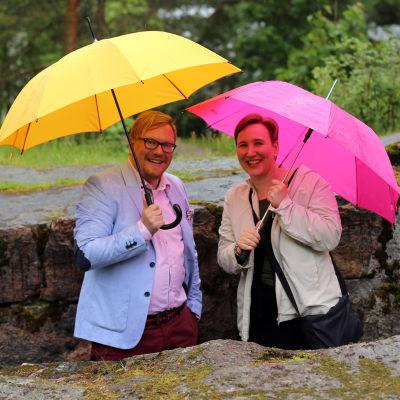 Ted Urho och Paulasalovaara i Hagalunds skyttegravar