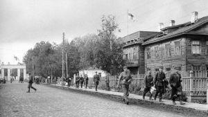 Finländska soldater i Aunus i september 1941
