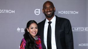 Kobe Bryant tillsammans med frun Vanessa i november 2019.