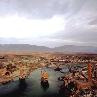 Byn Hasankeyf i sydvästra Turkiet