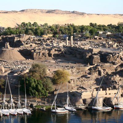 Arkeologinen kaivausalue Elefantinen saarella vuonna 2008.