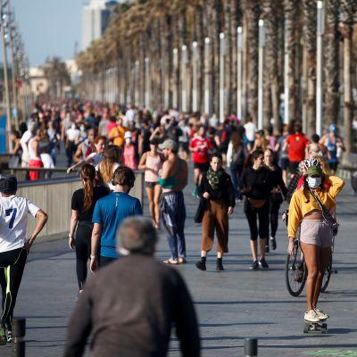 Stranpromenad i Barcelona 2.5.2020.