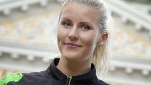 Kristiina Mäkelä, inför Kalevaspelen 2015.