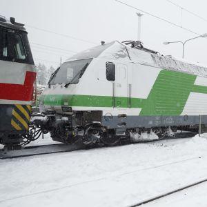 Intercitytåget som krockade med en grävskopa i Parkano.
