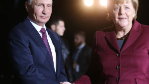 Vladimir Putin och Angela Merkel