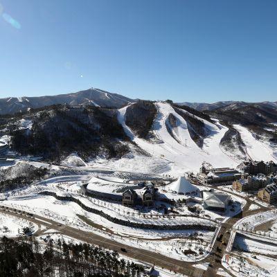 Alpensia-byn i Pyeongchang, Sydkorea.