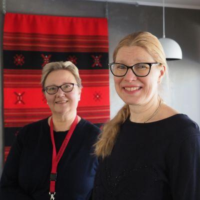 Yrittäjät Marjo Matikainen-Kallström ja Päivi Korhonen
