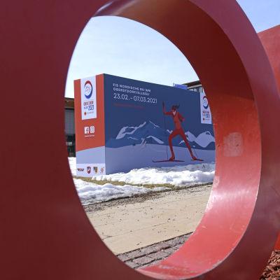 Oberstdorf med stora röda bokstäver