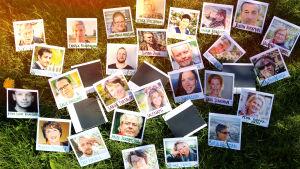polaroidbilder på gräsmatta, vegas sommarpratare 2016