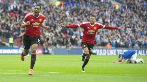 Anthony Martial satte segermålet för Manchester United.
