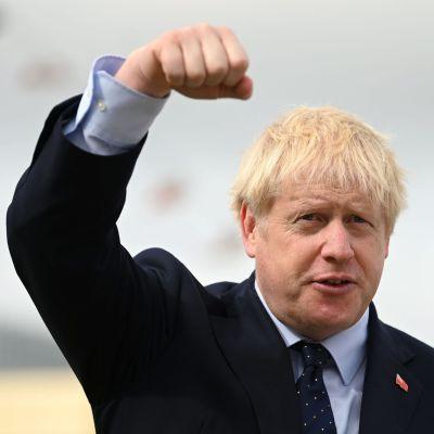 Boris Johnson då han höll ett tal i London den 12 september.