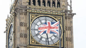 Big Ben, brittisk flagga
