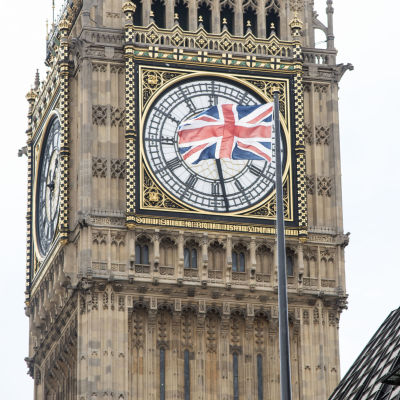 Big Ben, brittisk flagga