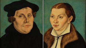 Martin Luther och frun Katarina von bora