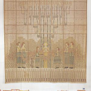 """""""The Festival of the May Queen"""", väggbonad till matsalen i Kingswood School i Cranbrook år 1932 (bilden är beskuren)"""