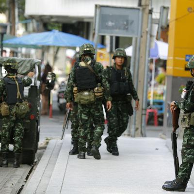 Soldater i Bangkok den 20 maj 2014