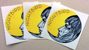 Nightbird, klistermärken