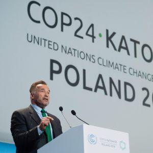 Arnold Schwarzenegger talar vi klimatkonferensen i Katowice