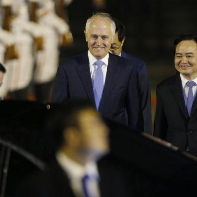 Australiens konservativa premiärminister Malcolm Turnbull deltar som bäst i Apec-toppmötet i Vietnam