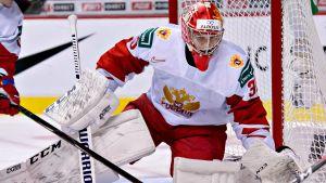 Daniil Tarasov spelade JVM i Rysslands tröja i årsskiftet.