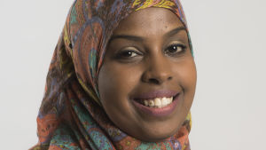 Ali Habiba, socialdemokrat, stället upp i kommunalvalet 2017 i Esbo.