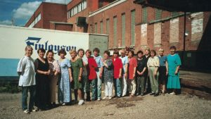 Finlaysonin tehtaan työntekijöitä.