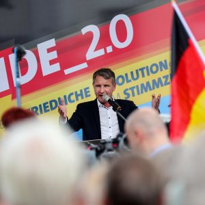 AfD:s partichef Björn Höcke i den östtyska delstaten Thüringen.