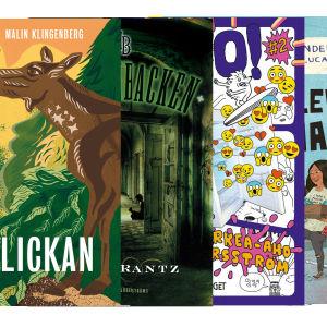 Bokpärmar, finlandssvenska böcker utgivna 2018