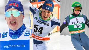 Iivo Niskanen, Krista Pärmäkoski och Ilkka Herola är tre av Finlands trumfkort i Seefeld.