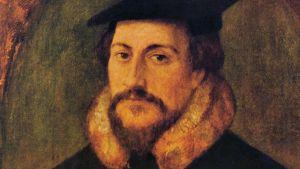 Johannes Calvin målad av Hans Holbein den yngre